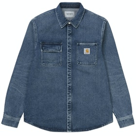 Carhartt Salinac Jac Shirt - Blue Mid Worn Wash
