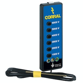 Corral Fence Line Tester for Electric Fencing - Black