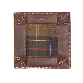 Barbour Tartan Leather Valet Jewellery Case - Classic Tartan