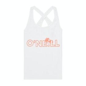 O'Neill Logo Girls Tank Vest - Powder White