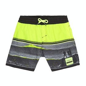 O'Neill The Point Boys Swim Shorts - Black Yellow