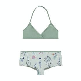 O'Neill Shorty Surf Girls Bikini - Green Aop Pink Purple