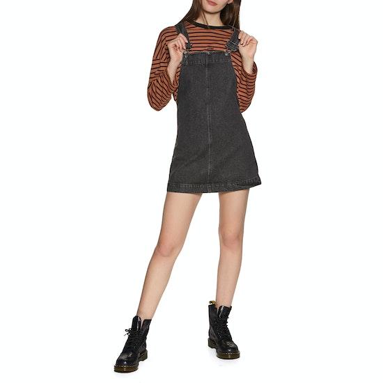Afends Mae Denim Overall Dress