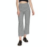 Afends Ryder Gingham High Waist Womens Trousers