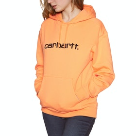 Pullover à Capuche Femme Carhartt Sweat - Pop Orange Black