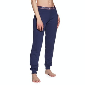 Emporio Armani Classic Knitted Women's Loungewear Bottoms - Blu Indaco