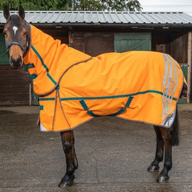 John Whitaker Seacroft Reflective 200g Detach-a-Neck Turnout Rug - Orange
