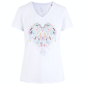 Imperial Riding Happy Heart Ladies Top - White