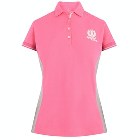 Imperial Riding Polo De Luxe Ladies Top - Flash Pink