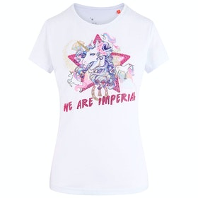 Imperial Riding 100% Unicorn Ladies Top - White