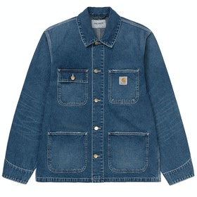 Carhartt Michigan Chore ジャケット - Blue Mid Worn Wash