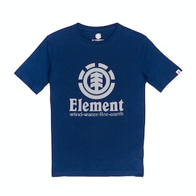 Element Vertical Boys Short Sleeve T-Shirt - Blue Depths