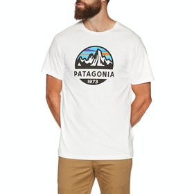 T-Shirt à Manche Courte Patagonia Fitz Roy Scope Organic - White