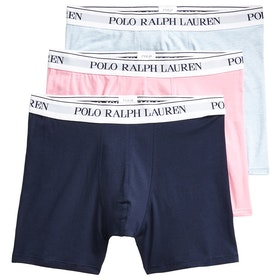 Bokserki Polo Ralph Lauren Cotton Elastane 3 Pack Trunk - Navy/Pink/Blue