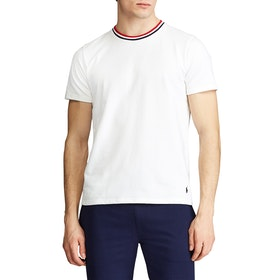 Piżama Polo Ralph Lauren Loop Back Jersey Top - White