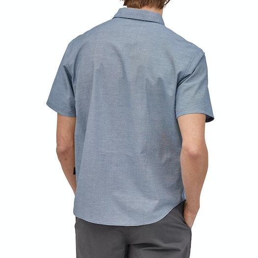 Patagonia Organic Cotton Slub Poplin Kortærmet skjorte