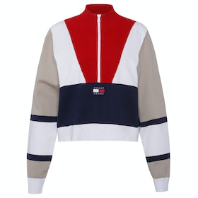 Tommy Jeans Colorblock Logo Pullover - Twilight Navy / Multi