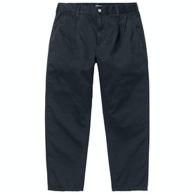 Spodnie chinos Carhartt Abbott - Dark Navy Stone Washed