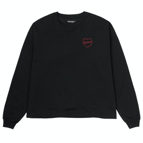 Carhartt Eve Heart Ladies Sweater - Black / Etna Red