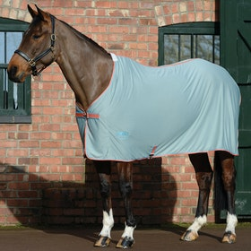 Weatherbeeta Airlite Standard Neck Cooler Rug - Silver Orange Blue