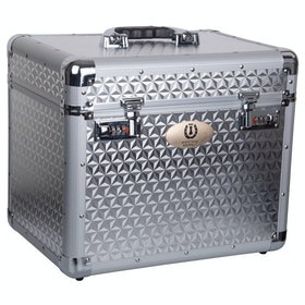 Imperial Riding Shiny Grooming Box - Silver