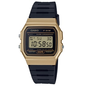 Casio Retro Casual Watch - Gold Black
