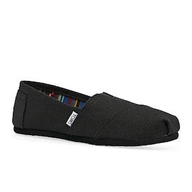 Scarpe Slip On Donna Toms Classic Alpargata - Black