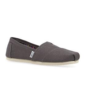 Toms Classic Alpargata Womens Slip On Shoes - Ash
