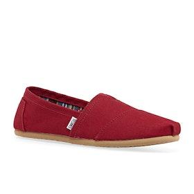 Toms Mens Classic Alpargata Slip On Shoes - Red