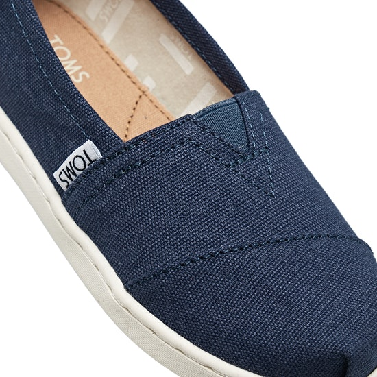 Toms Alpargata Canvas 2 Kids Slip On Shoes