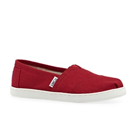 Mocassins Enfant Toms Classic Youth - Youth Red Canvas