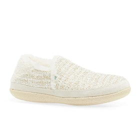 Toms India Womens Slippers - White Metallic Boucle