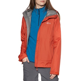 Giacca Donna Rab Downpour Packable - Firecracker
