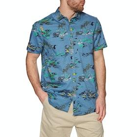O'Neill Lm Tropical Short Sleeve Shirt - Blue Yellow Orange