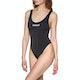 Calvin Klein Basic Logo Scoop One Piece Womens Swimsuit