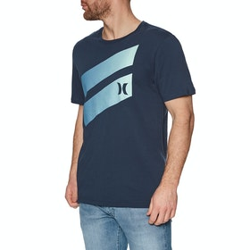 T-Shirt à Manche Courte Hurley Icon Slash Gradient - Armory Navy