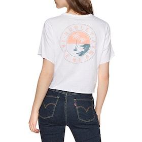 T-Shirt à Manche Courte Hurley Take Me Away Pocket Crew - White