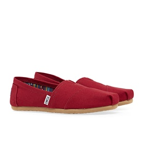 Toms Classic Alpargata Women's Slip On Trainers - Red