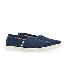 Toms Alpargata Canvas 2 Kid's Slip On Trainers - Navy