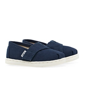 Toms Mini Classics Kid's Slip On Trainers - Navy Blue