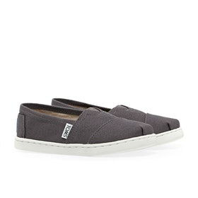 Toms Alpargata Canvas 2 Kid's Slip On Trainers - Dark Ash