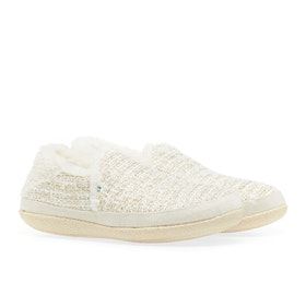 Toms India Damen Pantoffeln - White Metallic Boucle