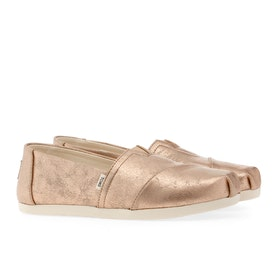 Toms New Classic Alpargata Women's Slip On Trainers - Champagne Shimmer Synthetic