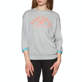 Emporio Armani Knitted Long Women's Loungewear Tops - Grigio Mel.chiaro