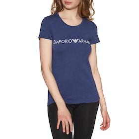 Emporio Armani Knitted Women's Loungewear Tops - Blu Indaco