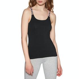Emporio Armani Knitted Tank Women's Loungewear Tops - Nero