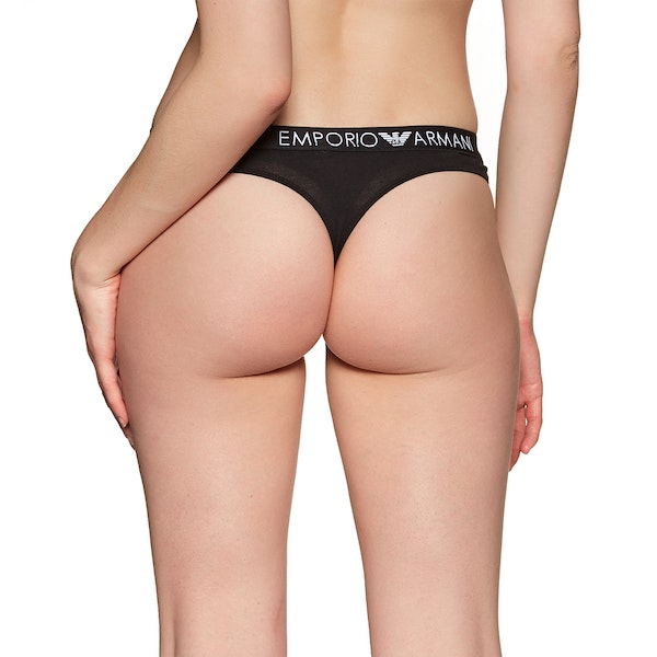 Emporio Armani Iconic Cotton Bi-pack Thong