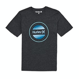 Hurley Circle Dye Logo Boys Short Sleeve T-Shirt - Black Htr