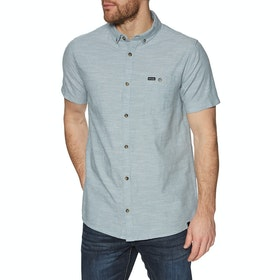 Animal Fleck Short Sleeve Shirt - Lead Grey