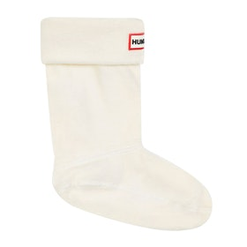 Hunter Original Fleece Kids Wellington Socks - Hunter White